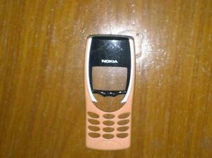 Genuine Original Nokia 8210 Front fascia cover housing Orange Yellow Grade B