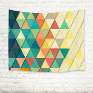Geometric Pattern Colorful Triangle Tapestry Wall Hanging Living Room Bedroom