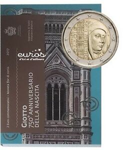 Pièce 2 euros SAINT MARIN 2017  750ème anniversaire de la Naissance de Giotto BU