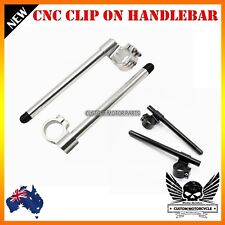 Clip On CNC Riser 25mm Handle bar Yamaha YZF R1 1998-2011 R6 2006-2012 07 08 09