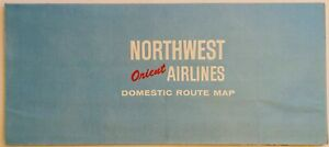 Northwest Orient Airlines 1987 Route Map with Polar view
