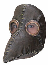PLAGUE DOCTOR LEATHER LOOK STEAMPUNK STYLE MASK LATEX HEAD MASK LARP HALLOWEEN