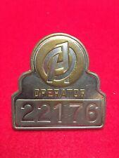 Vintage 1960's Nyc O.A. Bus Operator Badge # 22176