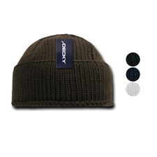 54569c7bb0e Decky Sailor Navy Fisherman Beanie Beanies Warm Winter Thick Knitted Acrylic