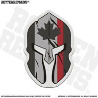 Canada Thin Red Line Flag Spartan Decal Sticker Canadian Firefighter V3 EMV