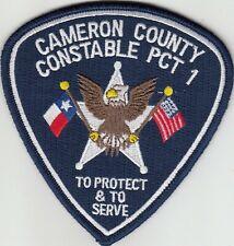 CAMERON COUNTY CONSTABLE PCT 1 TEXAS POLICE PATCH TX