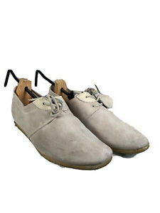 Pretty Green Men's White Suede Lace up Smart Shoes
