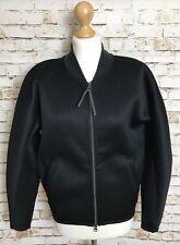 ADIDAS Originals Bonded Track Jacket Size UK 8 Black & Grey Women's AB0554