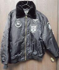 Avirex Superior Boomer Jacket Mens Size L USS Dwight Eisen Wer DLG 32 Tomcat