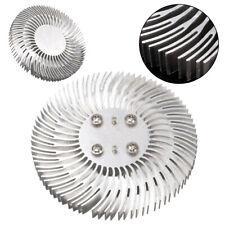 Round Spiral Aluminum Heat Sink Radiator 90*10mm For 10W High Power LED Lamp Kit