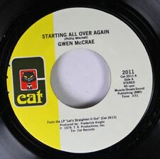 Soul Unplayed Nm! 45 Gwen Mccrae - Starting All Over Again / At Bedtime On Cat