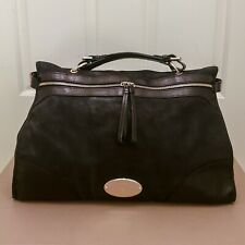 ■ Mulberry ■ Taylor Oversized Satchel Bag - Black Smooth Leather ■