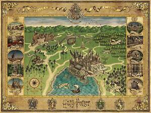 Ravensburger Harry Potter Hogwarts Map Jigsaw Puzzle (1500 Pieces)