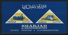 Sharjah Science Transport&Communication Souv.sht.Imperf MNH1965