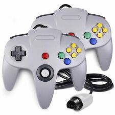 2 x Game-Controller Joystick Für Nintendo 64 N64 System GamePad grau Apr