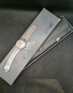 Ebel or et acier cadrans noir / ebel black dial watch gold and steel