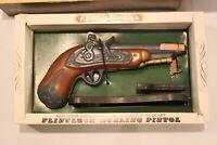 Vintage Ezra Brooks Flintlock Dueling Pistol Whiskey Decanter (Empty) With Stand