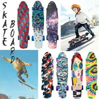 Complete 22Inch Mini Cruiser Retro Skateboards for Beginners Adult Teens Kids