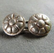 Genuine French Silver Sterling Floral Sleeve Link Button - 18th c. Hallmarked