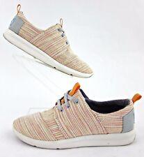 TOMS Womens Del Rey Sneakers Orange Multi Stripe Sz 5.5