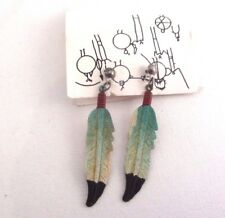 Feather pierced earrings David M Elrod Native American Arts & Crafts store