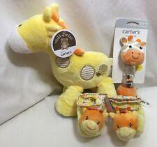 Giraffe Baby Shower Gift Set 3 Piece Carters Musical Plush Rattle Booties Video