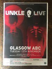 Unkle - gig poster, Scotland, November 2007.