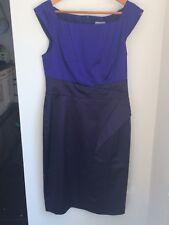 Navy & Purple Karen Millen Dress, size 14 RRP £140