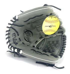 "Wilson A500 Siren Fastpitch Softball Glove 12"" LHT Graphite/Grey A05LF1812 Adult"