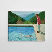 "16X20"" Gallery Art Canvas David Hockney ""Portrait of an Artist"" 20th century POP"
