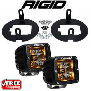 Rigid Radiance LED Fog Light Kit Amber Backlight for Toyota Tundra Tacoma 20204