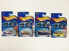 Lot of 4 Hot Wheels Mixed Assorted Carded Cars 2004 1st edition Batmobile