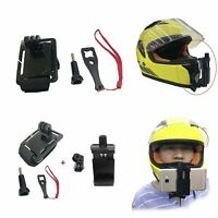 Motorcycle Helmet Chin Bandage+Phone Mount Clip for GoPro Hero 6 5 4 Camera NEW