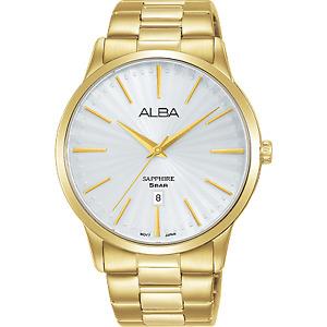 Alba Prestige Men's Gold Stainless Steel Dress Watch AG8K80X5