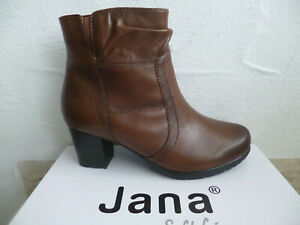Jana Ankle Boots Cognac Leather New