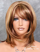 Wonderful straight layered Blonde Red Auburn mix wig JSDD RS29