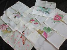 7 Vintage Silk Hankies - Souvenir of Tokyo