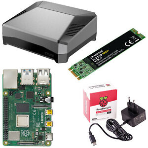 Raspberry Pi 4 Modell B 2-4-8GB Bundle Set SSD 120GB - 480GB ARGON ONE M.2