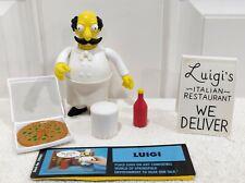 Playmates WOS Simpsons LUIGI Italian Restaurant Series 14 Figure MINT & Complete