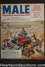 Male Jul 1959 Kunstler cvr, James Bama; Rafael DeSoto; Samson Pollen; Bob Stanle