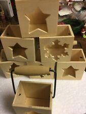 Christmas Wooden Tea Light Boxes