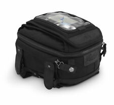 Burly Brand Motorcycle Tank or Tail Bag w/ Removable Map Pocket Black