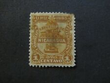 1890 - NICARAGUA - LOCOMOTIVE AND TELEGRAPH KEY - SCOTT 20 A5 1C