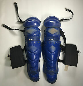 """Men's Blue Nike Catcher's Leg Guards with Knee Pads 17"""""""