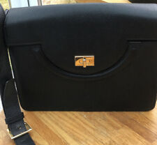 Black Bally Classic Leather Shoulder Bag. Made In Italy