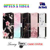 For Optus X Vista Fancy Stylish Wallet Card Leather Flip PU Universal Case Cover