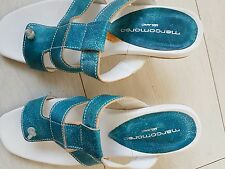 NUOVO con scatola * MARCO in aggiunta turchese sandali in pelle con tacco-EU 36 UK 4