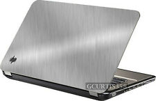 BRUSHED ALUMINUM Vinyl Lid Skin Cover Decal fits HP Pavilion G6 1000 Laptop