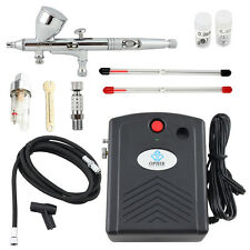 OPHIR Black Air Compressor Kit  Dual-Action Airbrush for Nail Art  Tattoo Makeup