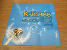 "K-Klass  –  Don't Stop     Vinyl 12"" 33RPM  UK 1992 Electronic House   12R 6325"